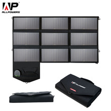 ALLPOWERS Portable 5V 12V 18V 60W USB Solar Cells Panel Power Bank Camping Folding Solar Charger