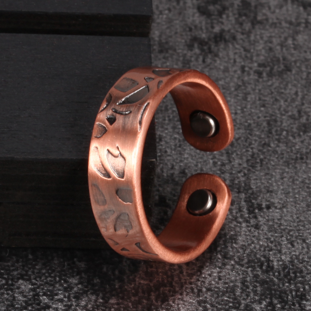 Vinterly Pure Copper Magnetic Rings For Women Vintage