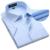 Plus de Gran Tamaño XXXL 4XL 5XL 6XL EE. UU. Nuevo Verano 2016 Sarga de Color Puro de Manga corta Camisas de Vestir de Negocios Formales Camisas de Trabajo hombres