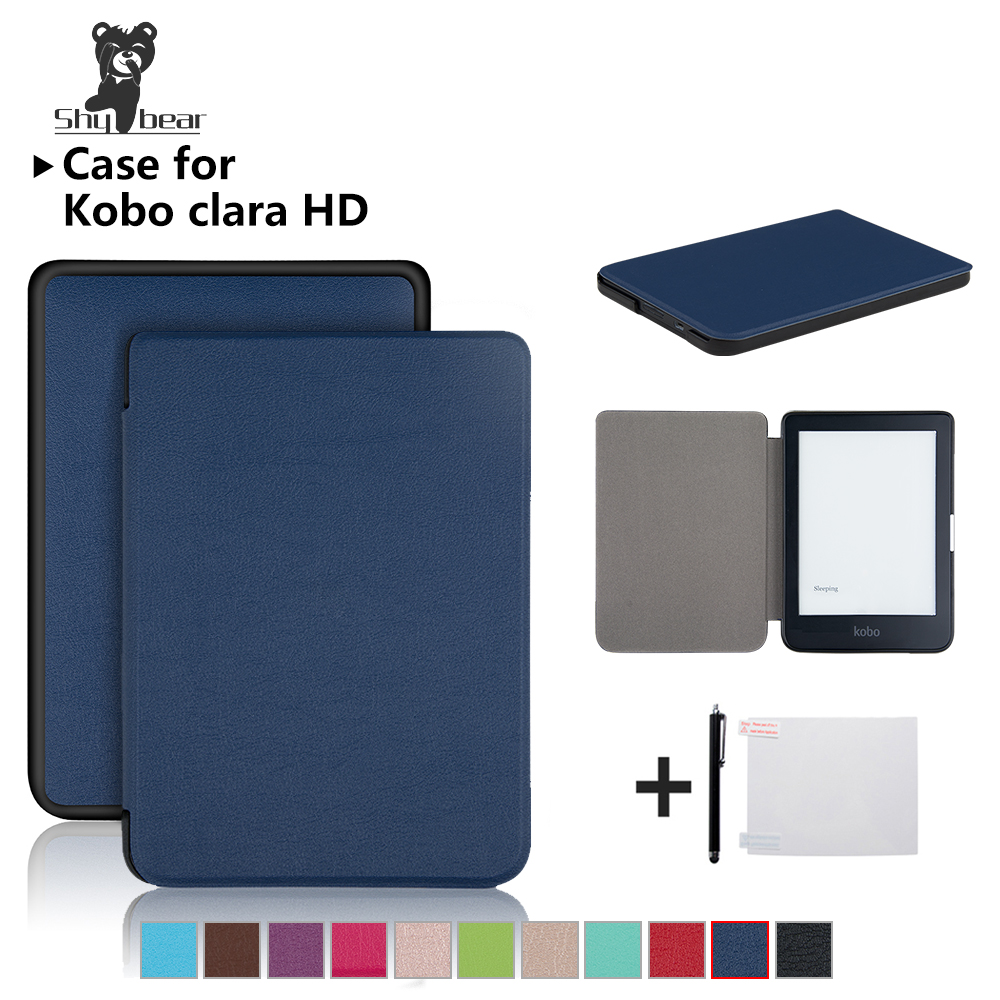 Magnetic Case For New Kobo Clara HD 6 InchPU Leather Ereader Smart Cover Case +free Gifts