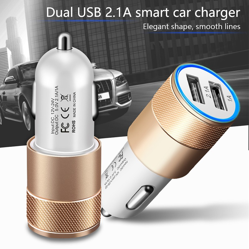 Dual USB SUV Car Charger For Xiaomi Mi 9 8 Lite A2 A1 F1 5 5S Plus Redmi Note 7 Pro 6 5 4 4X 4A 5A 6A Adapter Chargers Cargador (6)