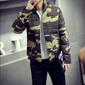 2016 new Korean youth popular men camouflage cotton padded coat collar code male windproof breathable warmth fashion WL-096