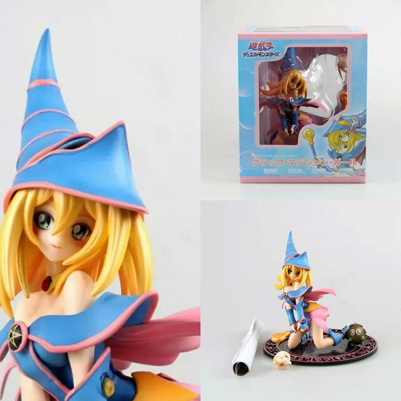 Yu-Gi-Oh Dark Magician Girl Mana Figure Blue Girl PVC  Figure Collectible Model Toy Childrens Birthday GiftsYu-Gi-Oh Dark Magician Girl Mana Figure Blue Girl PVC  Figure Collectible Model Toy Childrens Birthday Gifts