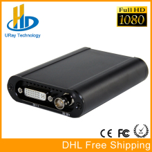 Mejor HD 1080 P HD 3G SDI + HDMI + VGA + YPbPr + DVI Dongle Capture Live Streaming Video Audio Tarjeta de Captura de Video Juego Grabber