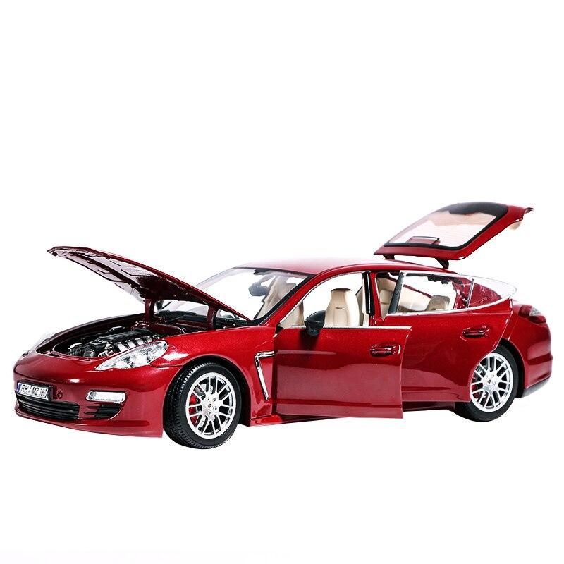 Danois super-run 1:18 voiture simulation professionnel alliage tirer arrière sport voiture jouet 28 cm 4 portes automotive-st1 ouvert rouge et noir