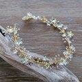 Crystal Star Head Chain Hair Jewelry Rhinestone Flower Hairband Bridal Headpiece Headband Wedding  Hair Accessories WIGO0899