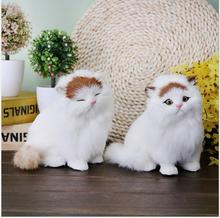 WYZHY  The real rabbit fur of the imitation fat cat is made high grade handicrafts 16CMx12CMx16CM