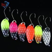 10pcs Brand Spoon Fishing Lure China 3.5g Multi Colors Hard Fishing Spoon Lure Paillette Jigbait Metal Jigging Lure Baits