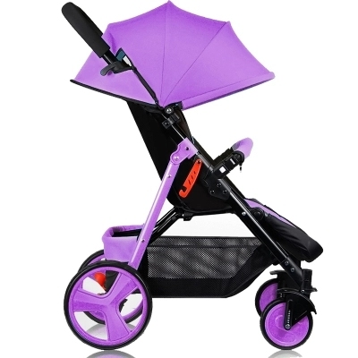 Baby stroller baby cart can sit and lie in the winter and summer of hand push convenient folding stroller