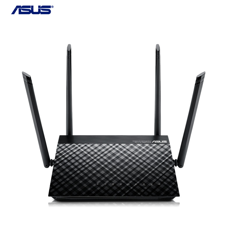ASUS RT-AC1200 1200Mbps Wifi Router Dual-Band Wifi 4-port Gigabit Router USB 2.0 Port 2.4G & 5G Frequency Excellent Wifi Router