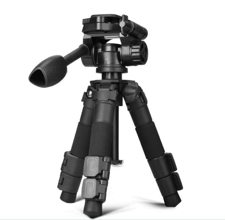 QZSD Q166Z Camera Tripod Mini Portable Tripods Multifunction Aluminium Tripod For SLR Camera 2 Section Leg With Quick Release
