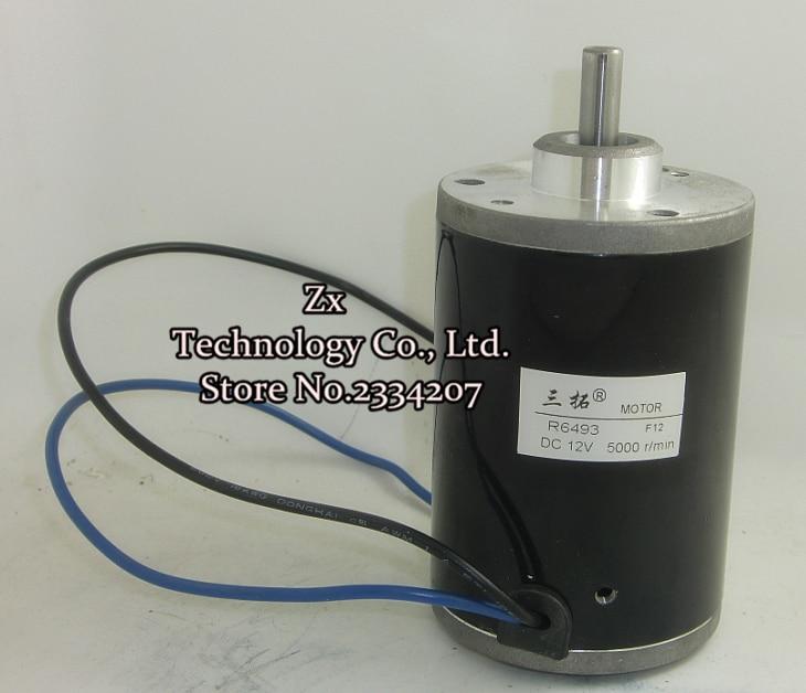 R6493  5000rpm DC 12V 100W 22N*cm 10A High speed Scooter motor Long output shaft for Ship/Robot/Motor model Machine tools  цены