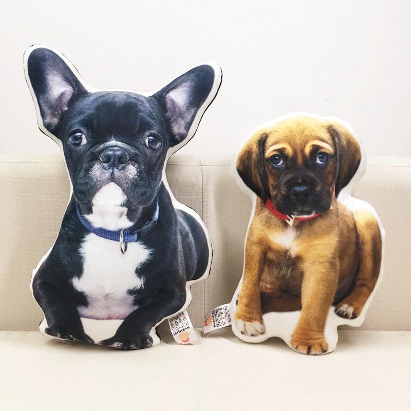 New Hot Photo Customization DIY Cushions Creative Gift Dogs Pillow Plush Toys Dolls Stuffed Animal Cushion Sofa Car Decorative