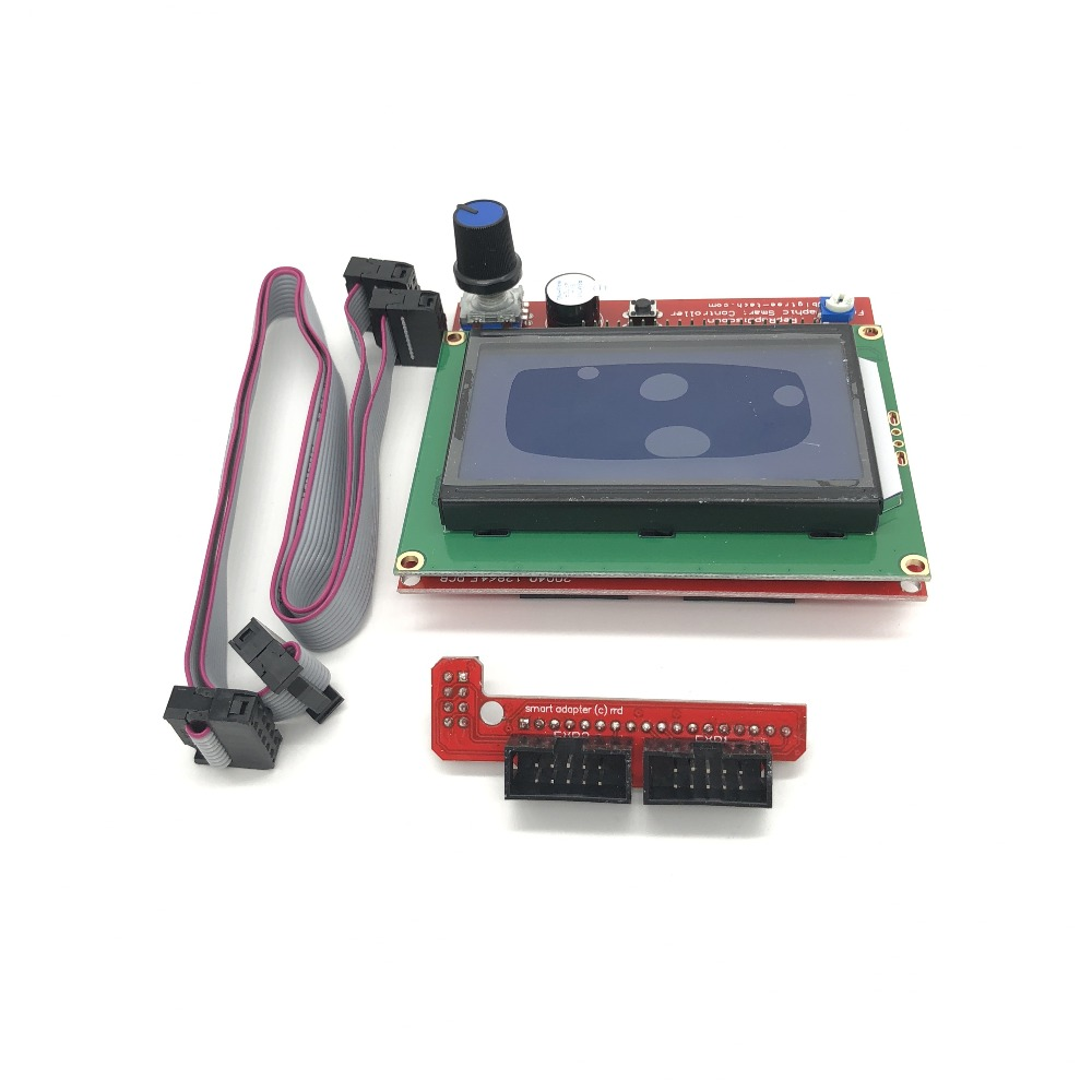 Amicable Shenzhenmaker 3d Printer Smart Controller Ramps 1.4 Lcd 12864 Lcd Control Panel Blue Screen 3d Printer Parts & Accessories