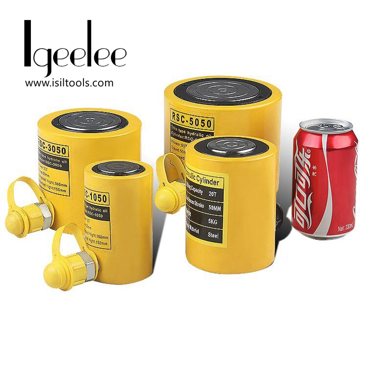 iGeelee Low Height Hydraulic Cylinder RSC 3050 Hydraulic Jack with tonnage of 30T work travel of