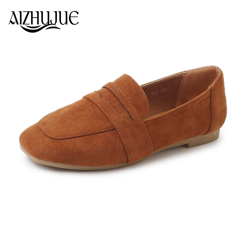 AIZHUJUE 2018 Korean New Fashion Spring Summer Women Flats Shoes Ladies Bow Square Toe Slip-On Flat Women's Shoes hot sale 2016 new fashion spring women flats black shoes ladies pointed toe slip on flat women s shoes size 33 43