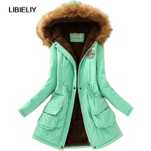 Nice Fashion Thicken Warm Winter Fur Collar Coats Jackets For Women Women Long Parka Plus Size Parka Hoodies