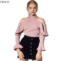 European Ladies Blouses And Tops Sexy 2017 Womens Fashion Off Shoulder Blouse Spring And Summer Women