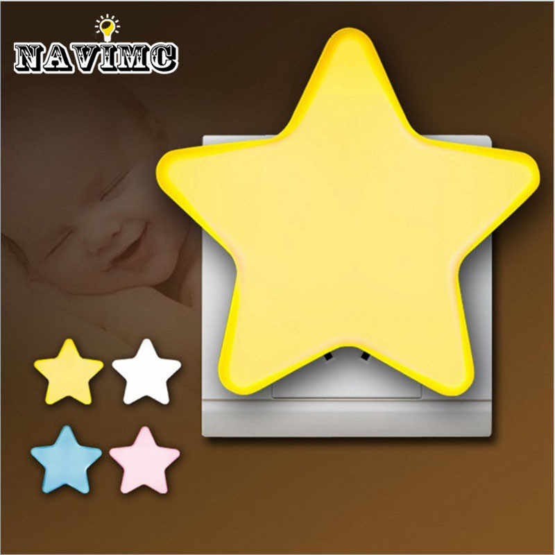 Sensor light control LED energy saving baby night light color children's lamp baby gift ABS for bedside lamp gift EU plug