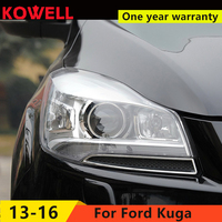 KOWELL Car Styling for Ford Kuga Headlights 2013 2016 Escape LED Headlight DRL Bi Xenon Lens High Low Beam Parking Fog Lamp