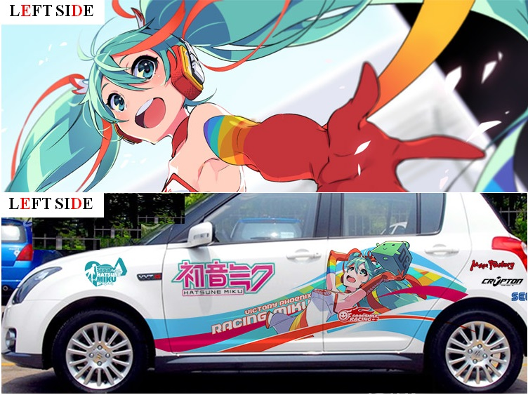 Left side car stickers custom made car accessories japanese car stickers decals 3d anime sticker auto camouflage vinyl in car stickers from automobiles