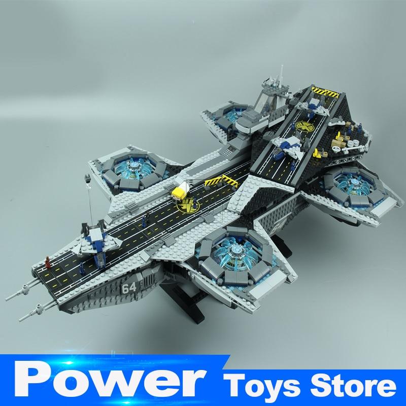 New Lepin 07043 Super Heroes The Shield Helicarrier Model Building Kits Blocks Bricks Toys Compatible legoed 76042