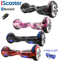 IScooter Hoverboard 6 5 Inch Bluetooth And Remote Key Two Wheel Self Balance Electric Scooter Skateboard