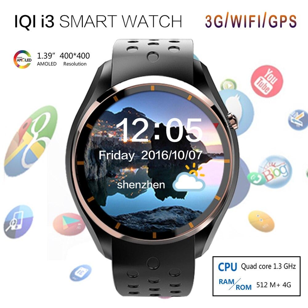 Newest IQI I3 font b Smart b font font b Watch b font MTK6580 Android 5