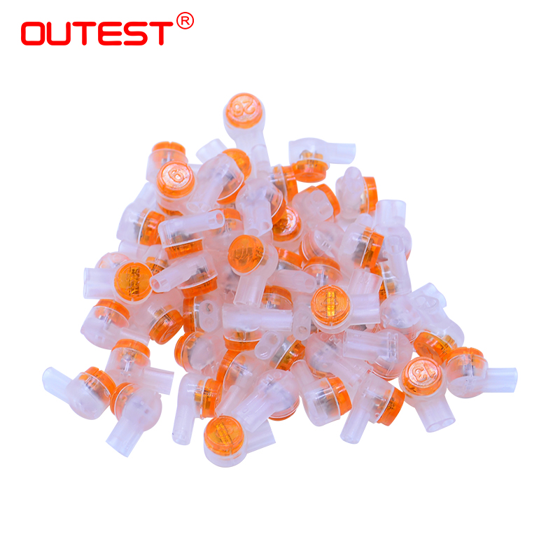 150pcs/Bag Rj45 connector crimp connection terminals k1 connector waterproof wiring ethernet cable telephone(China)