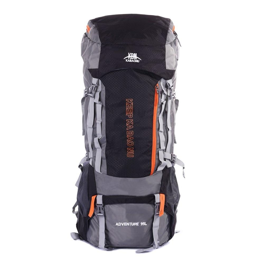 Sheng lun lai 95L Rucksack Waterproof Travel Backpack Large Capacity Camp Hike Trekking Climb Bag Backpack For Men WomenSheng lun lai 95L Rucksack Waterproof Travel Backpack Large Capacity Camp Hike Trekking Climb Bag Backpack For Men Women