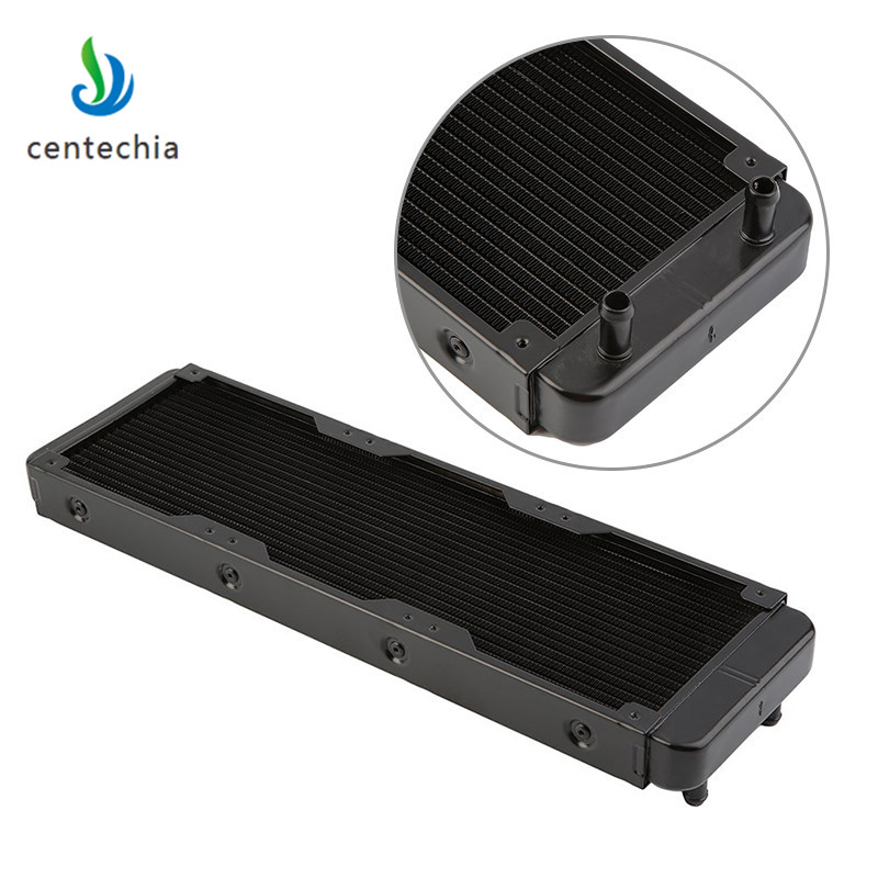 все цены на Centechia 360mm aluminium computer Water discharge liquid heat exchanger threaded thread radiator for 12cm fans