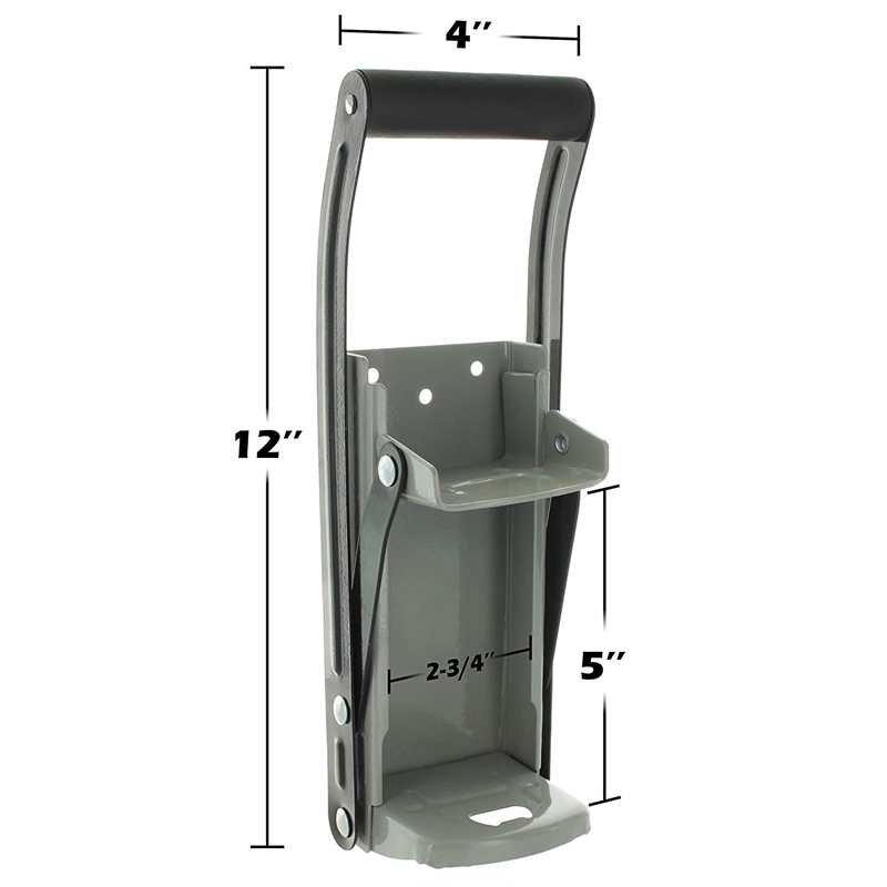 Beer Tin Can Crusher 12oz Bottle Opener With Grip Handle Wall Mounted Recycling Tool P7Ding