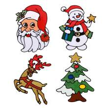 Chriatmas Wall Window Stickers Silicone Santa Claus Glass Stickers Window Door Wall Paste Christmas Decoration for Home New Year(China)