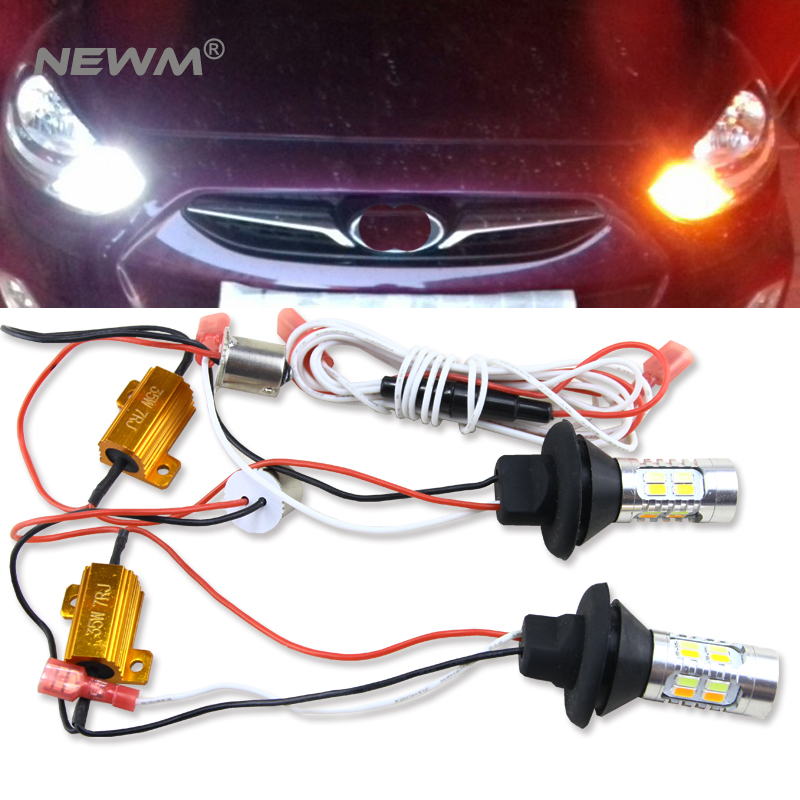 2pcs 1156 BA15S S25 BAU15S PY21W Canbus Error Free Dual Color Amber/White Switchback DRL LED Daytime Running Lights Turn Signal ruiandsion 2x75w 900lm 15smd xbd chips red error free 1156 ba15s p21w led backup revers light canbus 12 24vdc