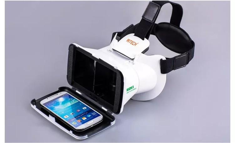 New Ritech III 3D VR Glasses RIEM3 Virtual Reality Head Mount Google Cardboard Oculus Rift DK2 Box for 4.7 ~ 6.0 Inch SmartPhone (17)