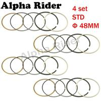 4 Sets Motorcycle Engine Parts Piston Rings STD Bore Size 48mm Kit For Yamaha FZ250 FZR250