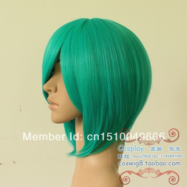 2019 Latest Design Free Ship>>>cos Wigs New Short Cosplay Onion Green Wig Easy To Lubricate