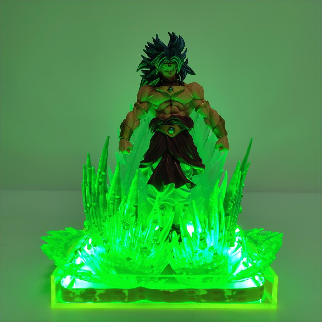 Lampara Dragon Ball Z Super Broly Broli LED Green Effect Anime Toys Doll DBZ Goku DIY Lamp Light Figurine Action Night Lighting