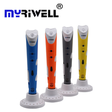 Myriwell 3d pen Creative 3D Printing Pens Intelligence Drawing 3d printer pen With ABS Filament 3D Best Gift for Kids Printer