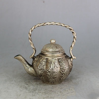 Christmas Gift boutique handmade bronze brass copper silver plated bronze ornaments Babao pot