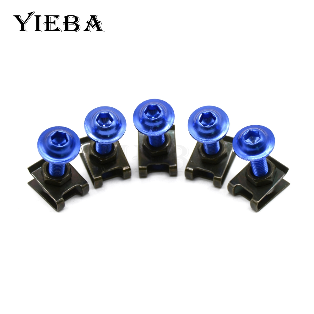 5pcs 6mm CNC Motorcycle Fairing body work Bolts Screws For Kawasaki ER-6F ER-6N NINJA 400R 650R KLE500 KLE 500 NINJA 250R 300R