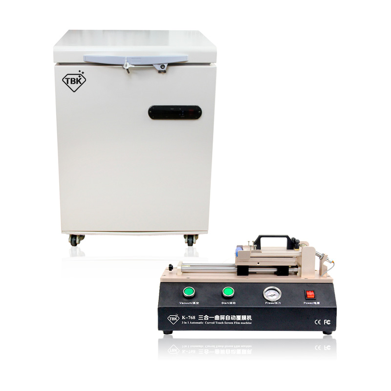 3in1 TBK 768 Automatic Curved OCA Film Laminating Machine + LCD Touch Screen Frozen Separator