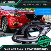Free Shipping 12V 6000k LED DRL Daytime Running Light For Mazda 6 Mazda6 2016 2017 Fog