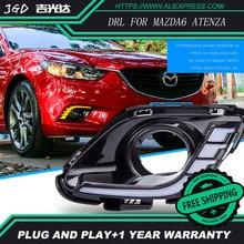 El envío gratuito! 12 V 6000 k LED DRL Luces Diurnas para Mazda 6 Mazda 2016 2017 niebla marco de la lámpara luz de Niebla Car styling