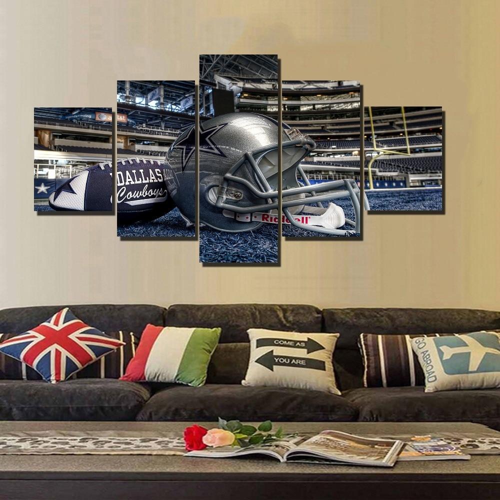 5 Panel Dallas Cowboys Canvas Prints Painting Wall Art Nfl: Online Get Cheap Cowboy Art -Aliexpress.com
