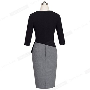 Image 3 - Nice   forever Mature Elegant V คอ vestidos Wiggle ชุดทำงานสำนักงาน Bodycon 3/4 แขนยาวผู้หญิงธุรกิจ B333