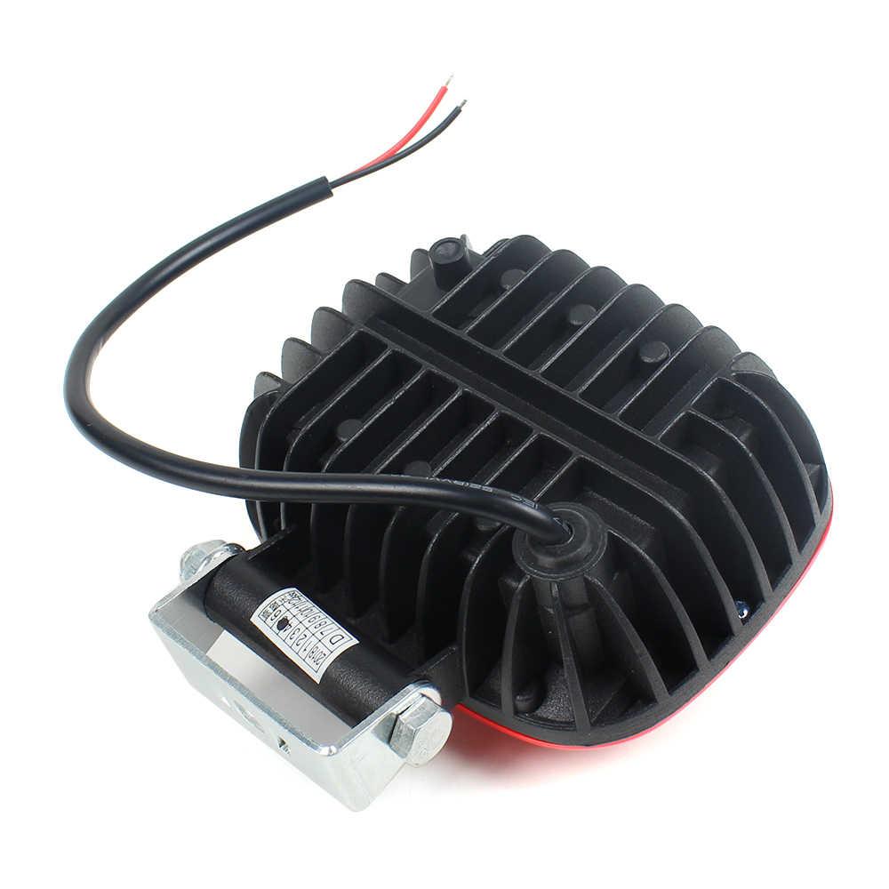 Красный цвет 4,5 дюймов 30 Вт Светодиодный рабочий свет Бар Противотуманные фары точечные огни от raod вождения светодиодный свет для джип грузовик внедорожник ATV 4WD двигатель