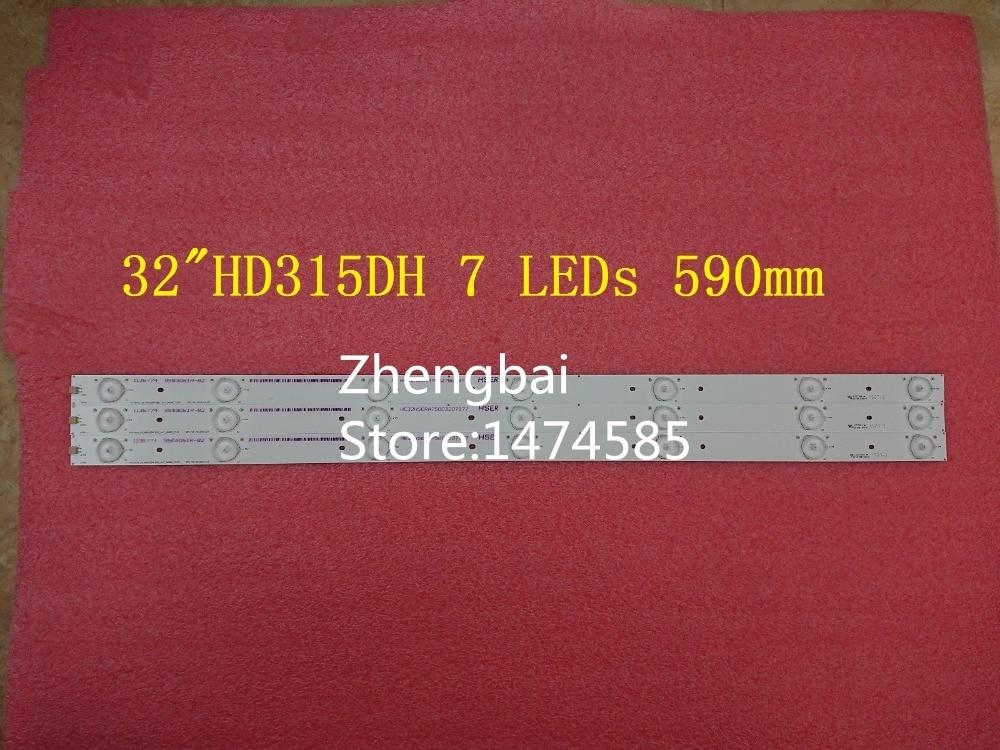 3 Pieces/lot original New 32LED strip HE32NME9UX4012406497 E25784 for Hisense 32 HD315DH-E81 B21 7 LEDs 590mm