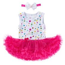 2019 Fashion Polka Dot Baby Ruffle Jumpsuit Clothes Newborn Size 0-3 Months Swimsuit Girls Kids Princess Dress For