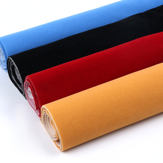 Flannelette Tecidos Flocagem Reunido Com Cola para DIY Costura Saia Travesseiro Sofá Colchão Almofada Brinquedos Material de Sacos de 50*150 cm